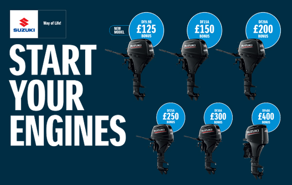 Get back out on the water and enjoy a bonus of up to £400 (inc VAT)off RRP*