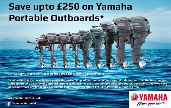 Save up to £250 on Portable Yamaha Outboards