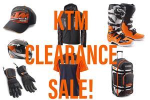 KTM CLEARANCE SALE!