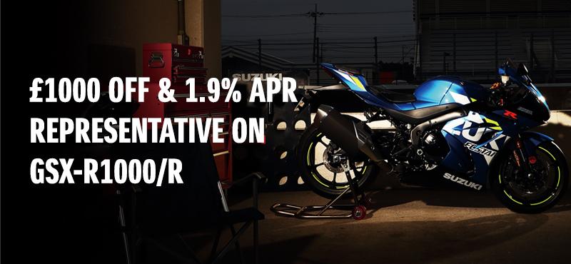 1.9% APR REPRESENTATIVE ON GSX-R1000R