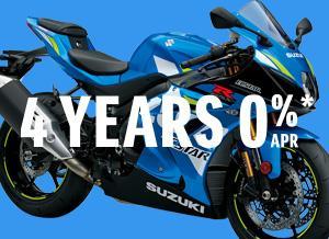 4 YEARS 0% APR ON GSX-R1000R