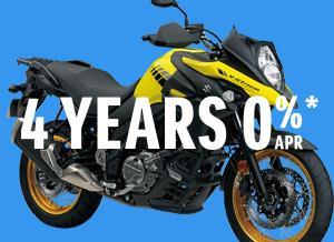 4 YEARS 0% APR ON V-Strom 650XT