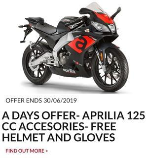 Aprilia 125cc accessories offer