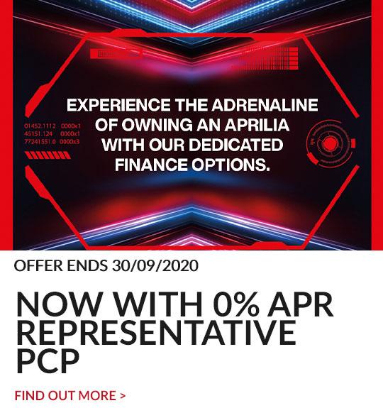 Aprilia 0% finance promotion