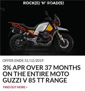 MOTO GUZZI V85 TT 3% APR REPRESENTATIVE PCP