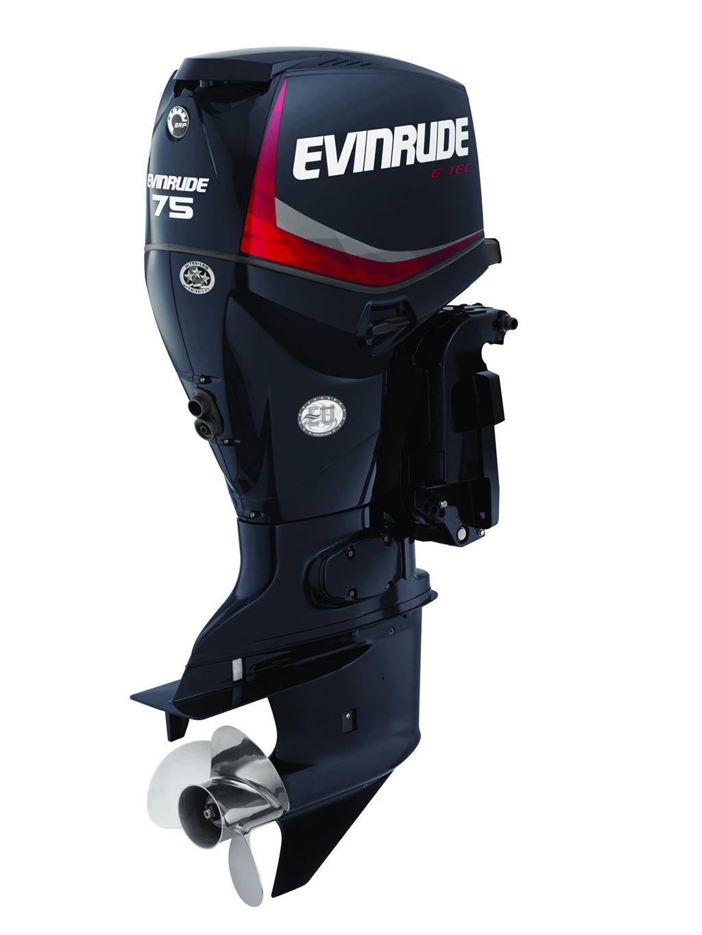 Evinrude E-Tec 75hp Outboard Engine - EX DEMO - Image 0