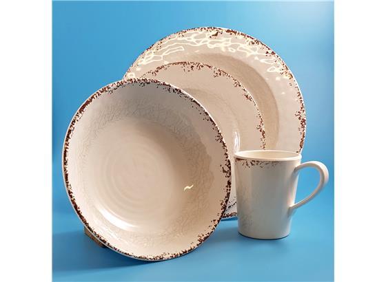 Melamine 16 piece tableware set - Norfolk Cream