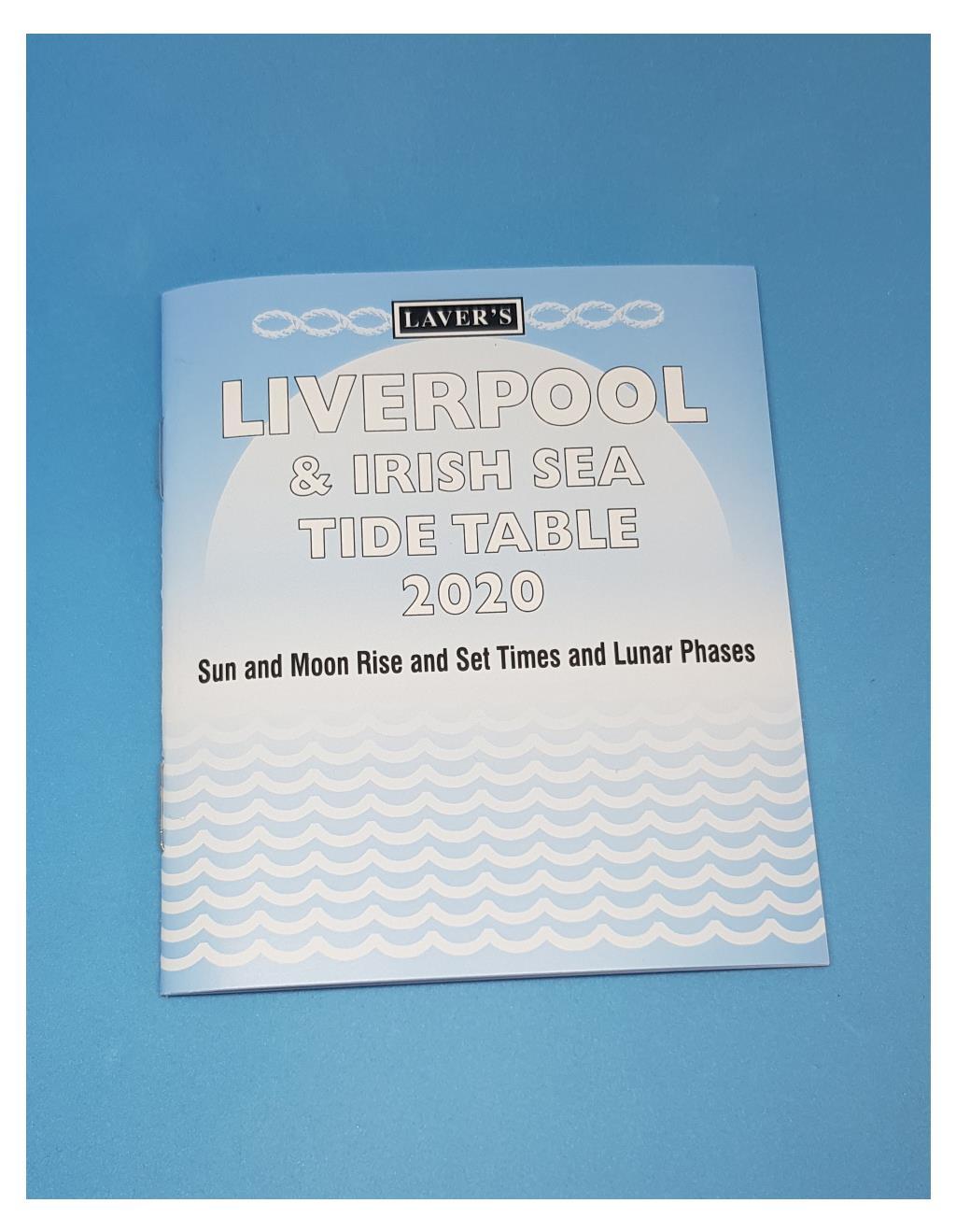 Tide Tables Liverpool and Irish Sea 2020 - Image 1