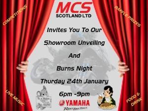 Showroom Unveiling & Burns Night
