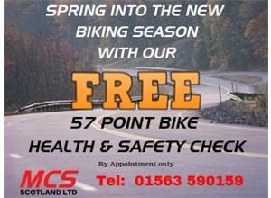 FREE 57 Point Bike Health & Safety Check