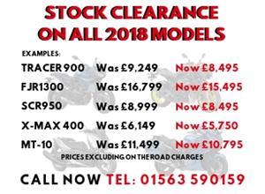 Stock Clearance On all Yamaha 2018 Models