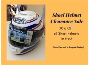 Shoei Helmets 30% OFF Clearance Sale
